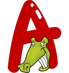 A for alligator vector image vector image
