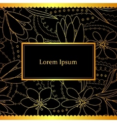 Black and gold decorative background vector