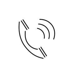 Calling phone icon vector