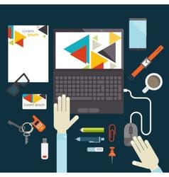 Flat Design Elements vector image vector image