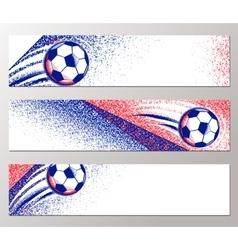 Football championship 2016 horizontal banner with vector image