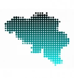 map of belgium vector image vector image
