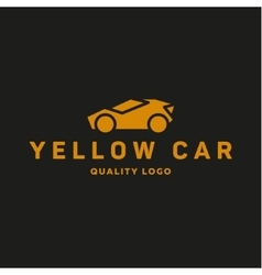 Yellow abstraction car icon logo flat style vector image vector image