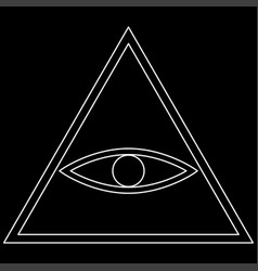 all seeing eye symbol the white path icon vector image