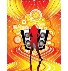 funky disco divas vector image