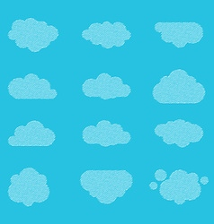 Halftone clouds vector image