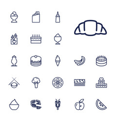 22 delicious icons vector