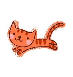A cat is running vector