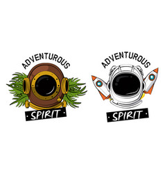Adventour spirit prints for tshirts vector