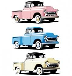 American pickup vector
