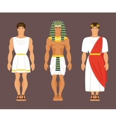 Ancient Greek Egyptian and Roman vector