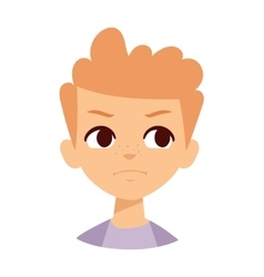 Angry boy vector image
