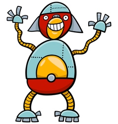 Ape robot cartoon character vector