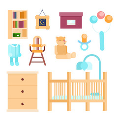 baby room concept vector image