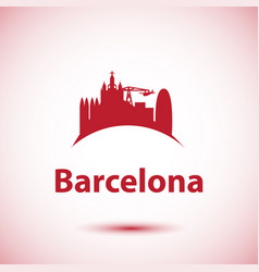 barcelona detailed silhouette trendy vector image