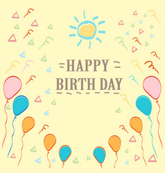 birthday childish element background vector image
