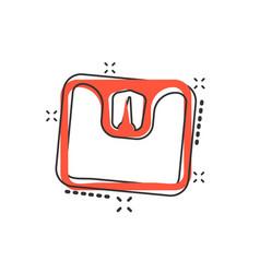 Cartoon bathroom scale weigher icon in comic vector