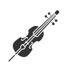 cello glyph icon vector image