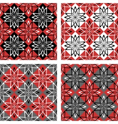 checkered patterns set vector image