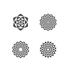 circular fractal design elements vector image
