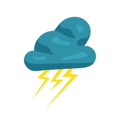 Cloud and lightnings icon cartoon style vector image