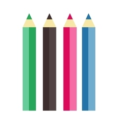 Collection of cosmetic lip pencil vector