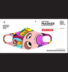 Colorful doodle pattern masker design vector
