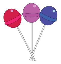 colorful lollipops vector image
