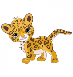 cute jaguar cub vector image