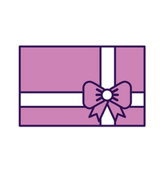 Cute purple gift cartoon vector