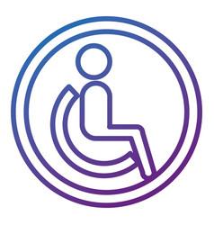 disable person silhouette icon vector image