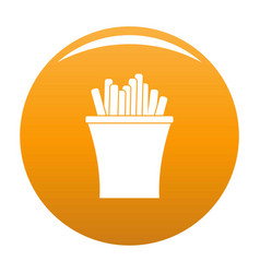 french fries icon orange vector image