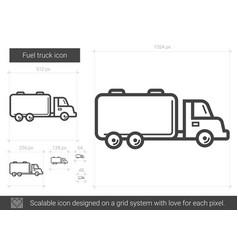 fuel truck line icon vector image