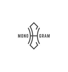 Geometric monogram hc vector
