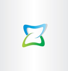 green blue logotype z letter z icon vector image