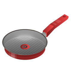 Griddle pan icon isometric style vector