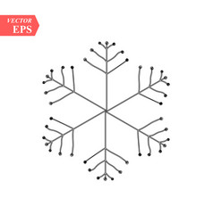 Hand drawn snowflakes delicate snow icon vector