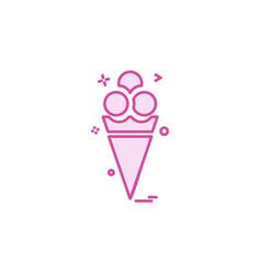 ice cream icon design vector image