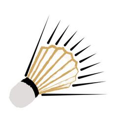 Isolated badminton shuttlecock icon vector