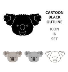 koala icon in cartoon style isolated on white vector image