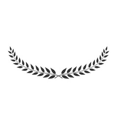 laurel wreath oval-shaped isolated on white vector image