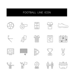 line icons set football pack vector image