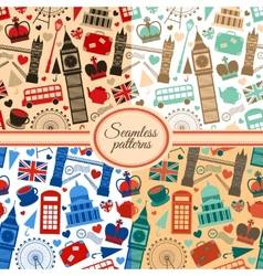 london seamless pattern set vector image