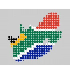 Map and flag of South Africa vector image