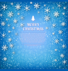 Merry christmas design postcard vector