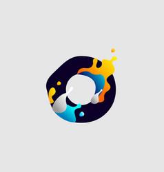 modern color full letter logo initial letter for vector image