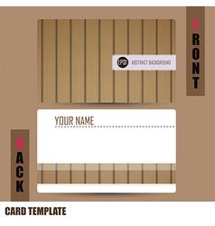 Modern wooden Business-Card Set vector image