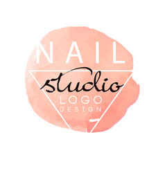 nail studio logo design element for nail bar vector image