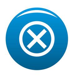 no sign icon blue vector image