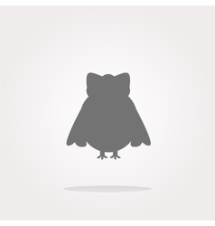 Owl - icon web button isolated Web Icon vector image